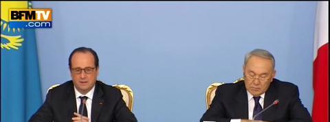 Kazakhstan: Hollande rappelle la position constante de la France sur les droits de l'homme