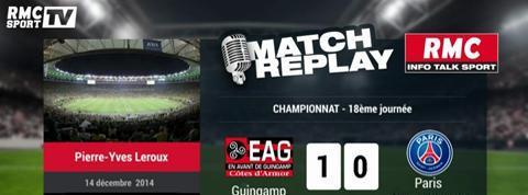 Guingamp-PSG (1-0) : le Match Replay avec le son de RMC Sport