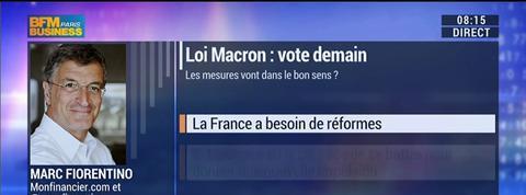 Marc Fiorentino: La loi Macron ne s'est pas attaquée aux problèmes de fond –