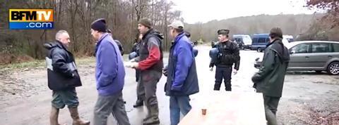 Les agriculteurs bloquent la ZAD au barrage de Sivens