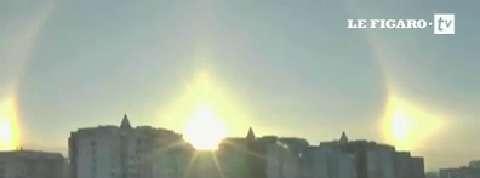 Soleil : phénomène optique étonnant dans le ciel de Moscou
